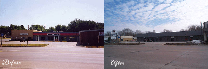 Before & After Commercial Building